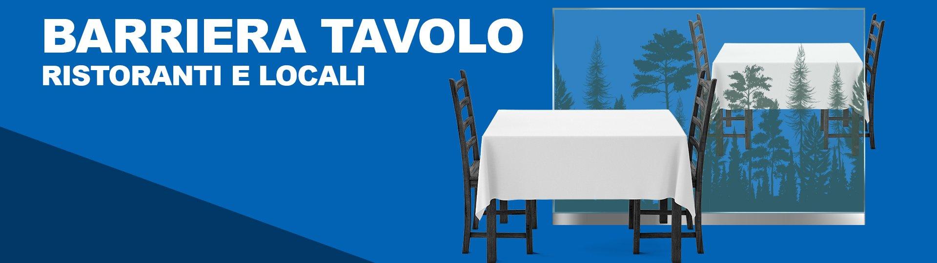 Barriera in plexiglass per tavoli di ristoranti o locali anti droplet