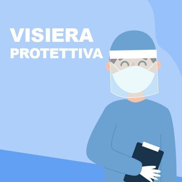 Visiera di protezione per il viso che impedisce il droplet